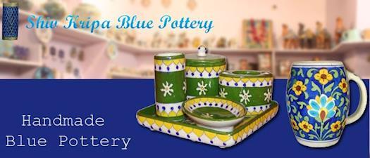 Handmade Blue Pottery