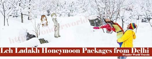 Leh Ladakh Honeymoon Tour Packages from Delhi & Ahmedabad