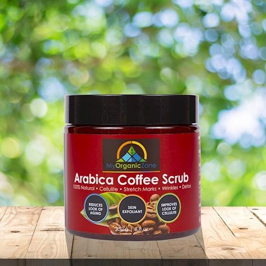 Arabica Coffee Scrub, Face & Body Exfoliating Scrub for Cellulite Treatment