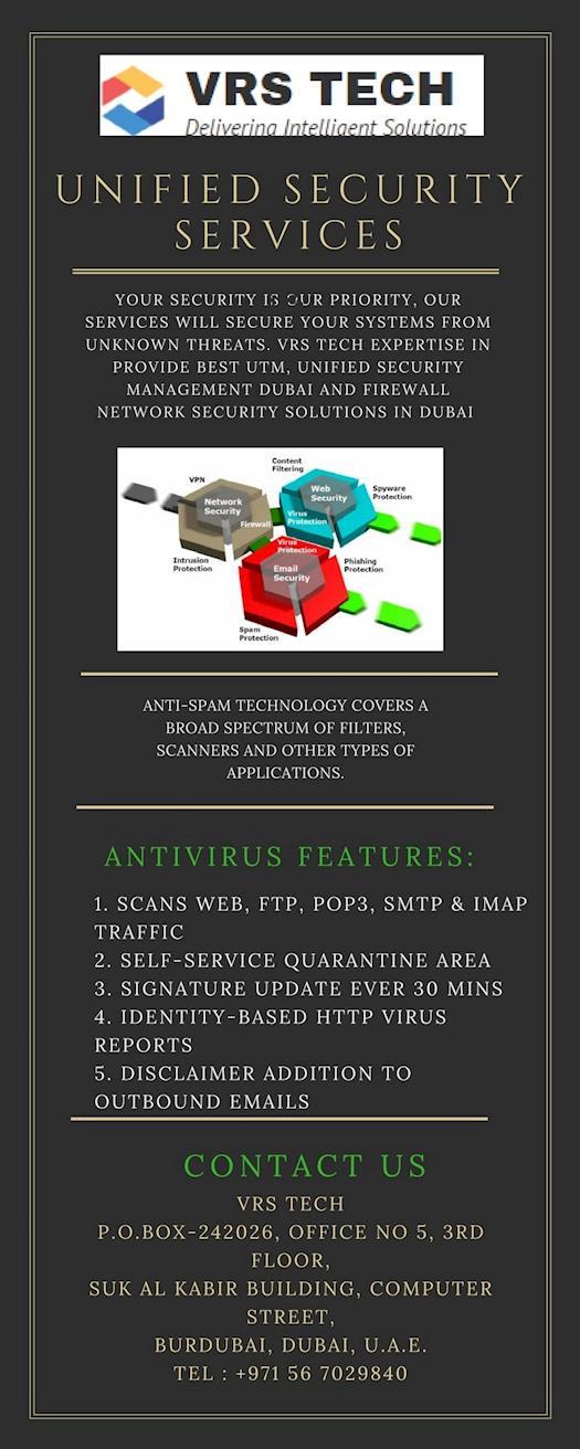 Best Unified Security management Dubai - Vrstech | 971567029840