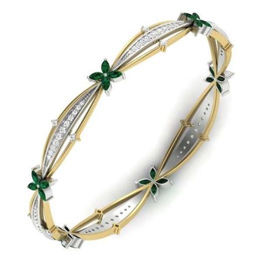 Diamond bangles indian jewellery