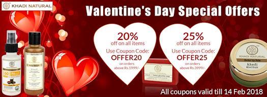 Valentine offer  Khadi Natural Best Offer