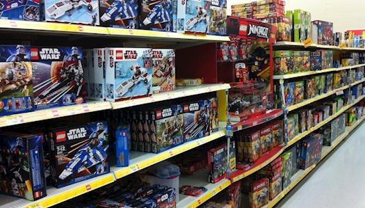 Walmart Lego Section