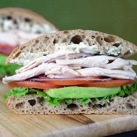 Roasted Turkey Sandwich with Avocado