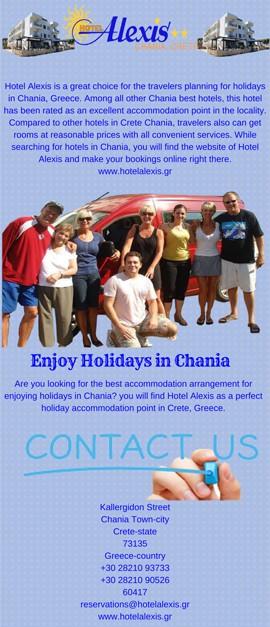 Book Alexis Hotels in Crete Chania