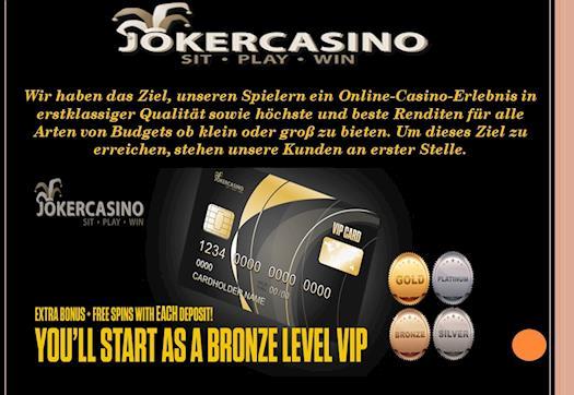 Livecasino, online Automaten, Joker, Mobile Casino