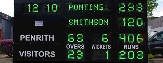 Best Cricket Scoreboard from Blue Vane, Australia