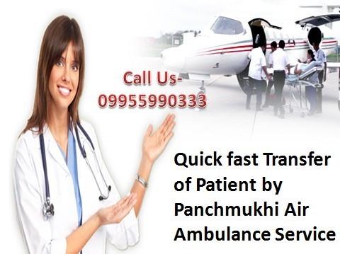 Panchmukhi Finest Air Ambulance Service from Patna to Delhi