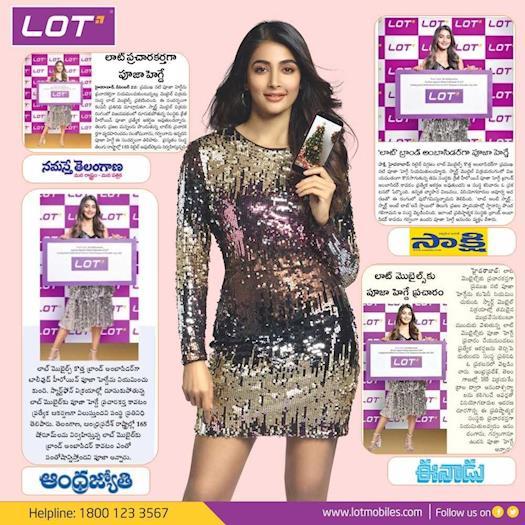 Pooja Hedge Turns Brand Ambassador for Lot Mobiles .