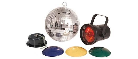 QTX Mirrorball Disco Light Set at DJ Store