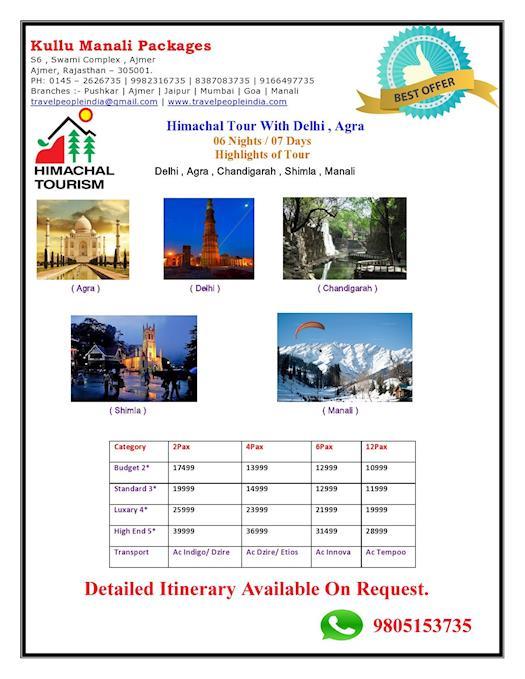Himachal Tour With Delhi, Agra