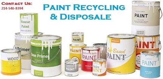 Dallas Paint Disposal: Oil Paint Recycling & Disposal Services Dallas, TX