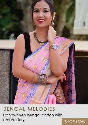 Beautiful Collection of Pure Bengal Cotton Sarees