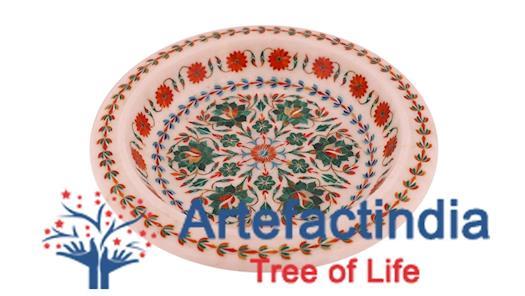 Decorative Marble Fruit Bowl | Lotus Leaf Bowl - Artefactindia
