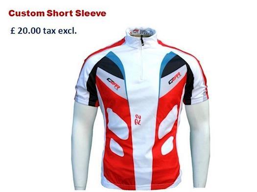 Buy Custom Short Sleeve for Cyclist from Gear Club Ltd
