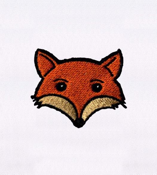 GLEEFULLY MINIATURE FOX EMBROIDERY DESIGN
