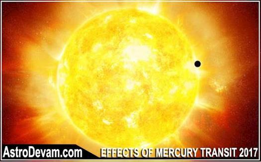 Effects of Planet Mercury Transiting in Sagittarius