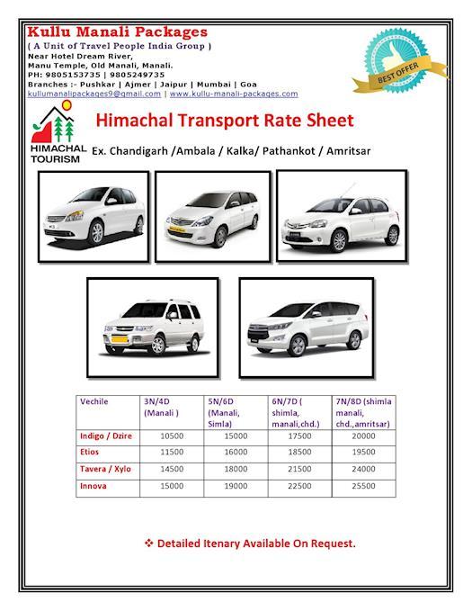 Himachal Transport Rate