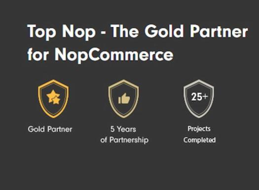 Top Nop - Authorized Gold Partner for NopCommerce