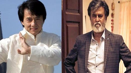 Rajini acts with Jackie Chan