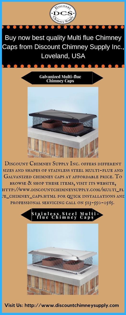 Buy Multiflue Chimney Caps from Discount Chimney Supply Inc., Loveland, USA