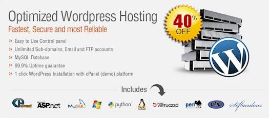 Flat 40% on Wordpress Hosting - Free Domain & SSL, IP Address