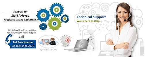 Antivirus Support Phone Number UK 44-808-280-2972