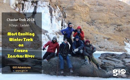 Chadar Trek Ladakh 2018 - GIO Adventures