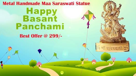 Metal Handmade Maa Saraswati Statue