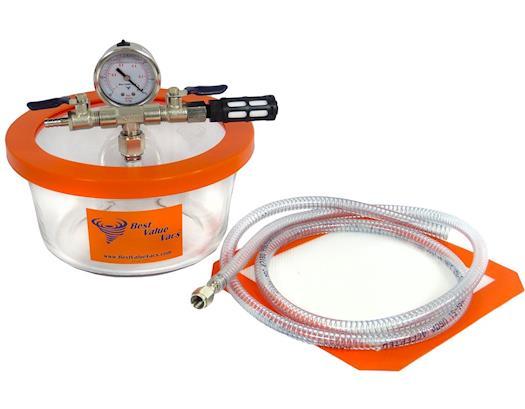 1.75 Quart Pyrex Vacuum & Degassing Chamber