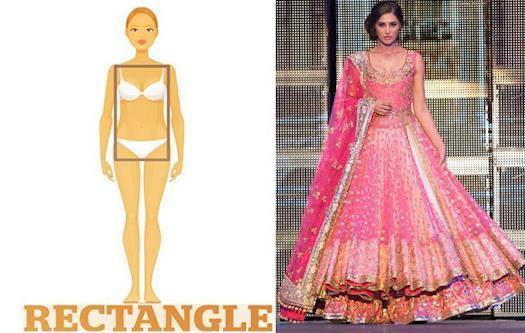 Choose Lehnga According to Body Shape