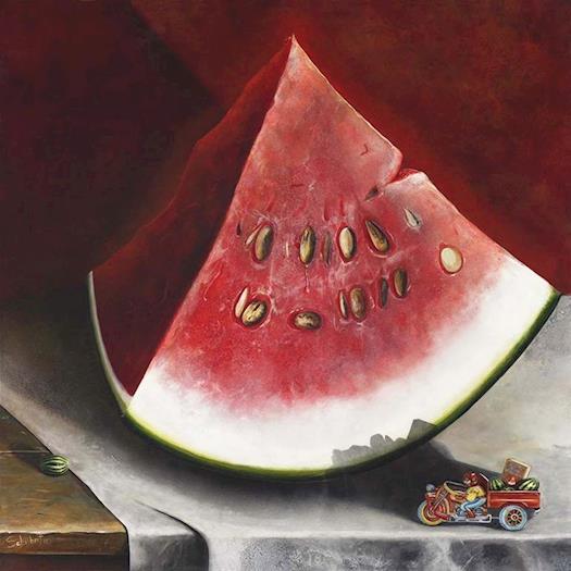 Grow Watermelon For Acrylic Painting