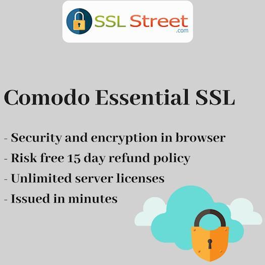 Comodo Essential SSL Security Certificate For Ecommerce Website