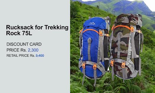 Rucksack bags for trekking 75L