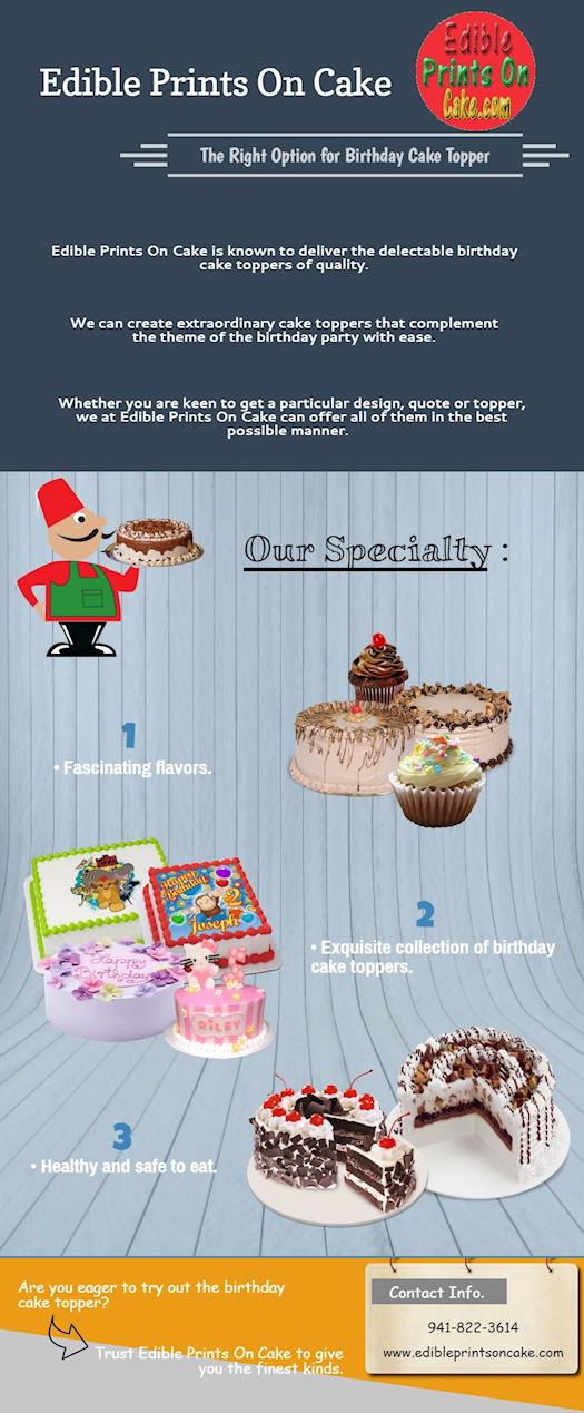 Birthday Cake Topper Personalized Birthday Cake Topper