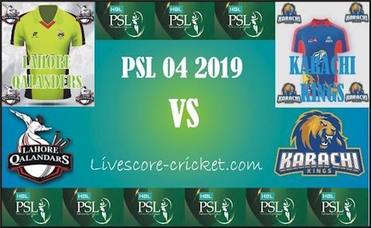 PSL 4 Lahore Qalanders vs Karachi Kings