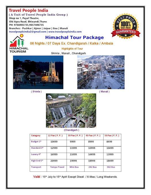 Himachal Tour 6N 7D