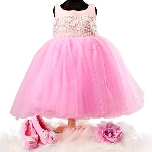 Pinkcow Gorgeous Cotton Silk Kids Dress