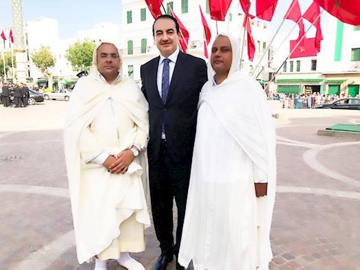 Mohamed Dekkak with Yahdih Kherr Chairman and Founding Member of Sahara Spirit Foundation on the All