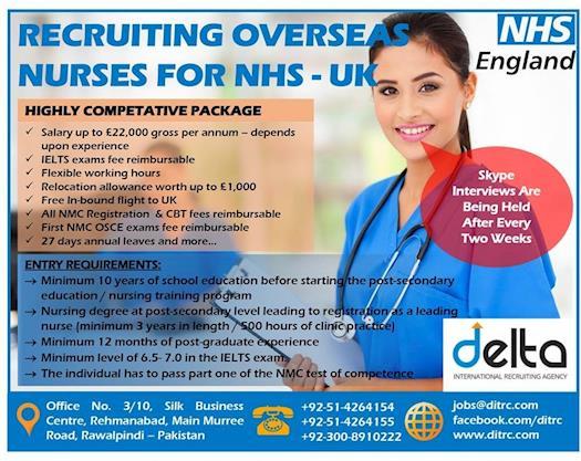 Looking #Nurses for #NHS #UK