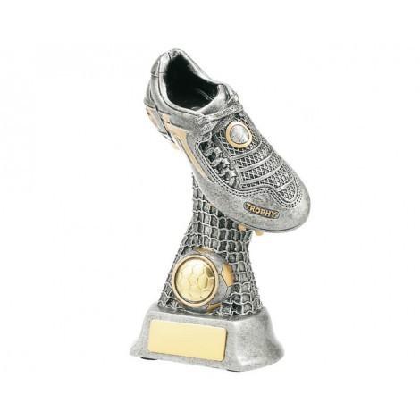 Soccer Boot on Net Resin Trophy