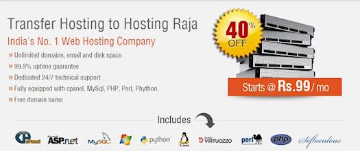 Save Flat 40% on Web Hosting Transfer