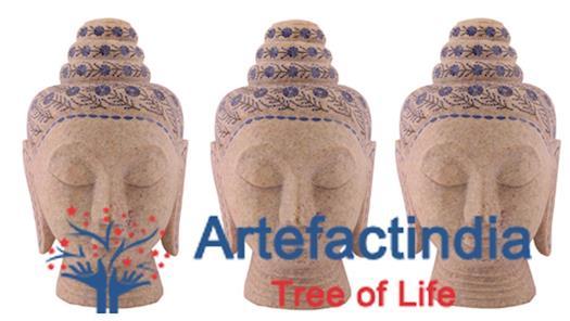 Marble Buddha Head | Marble Buddha Statue - Artefactindia