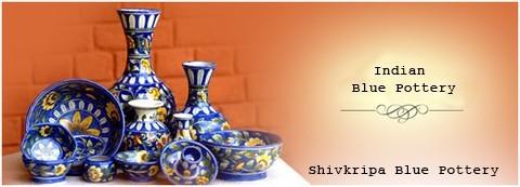Shivkripa Blue pottery - Indian Blue pottery