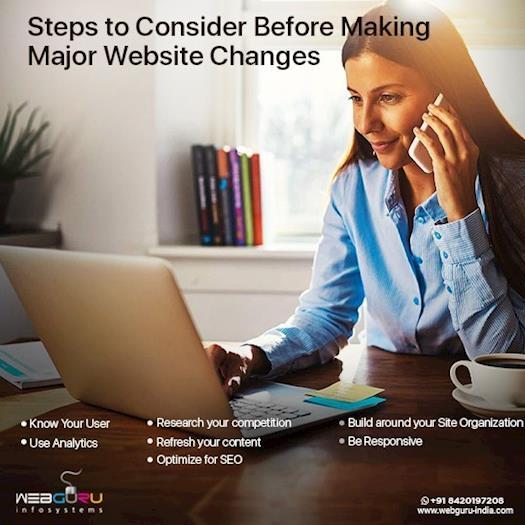 Steps To Consider Before Making Major Website Changes