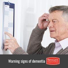 warning sing of Dementia