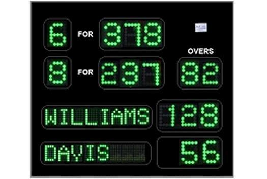 Cricket scoreboard Australia from Blue Vane, Ringwood, Victoria
