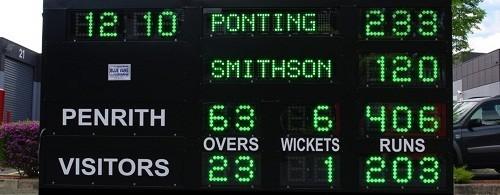 Cricket Scoreboard Australia from Blue Vane, Ringwood, VIC