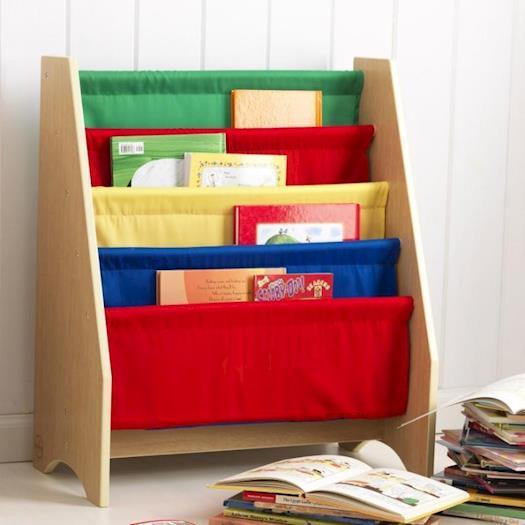 Sling bookshelves