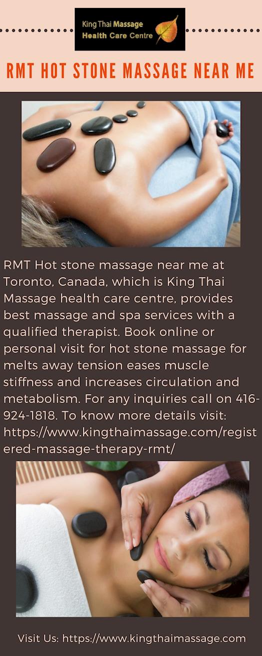 Choose RMT Hot stone massage near me at King Thai Massage Health Care Center
